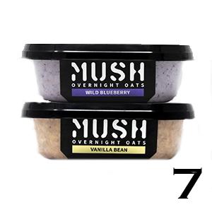 Mush Overnight Oats, Wild Blueberry and Vanilla Bean