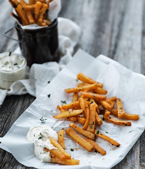 Rutabaga Fries with Aioli Dipping Sauce