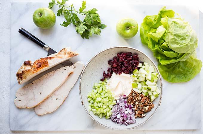 Thanksgiving Turkey Lettuce Wraps Ingredients