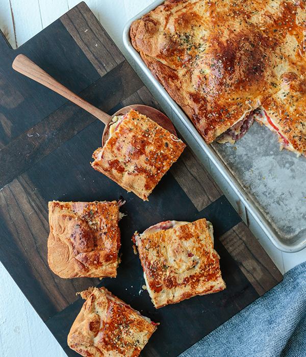 Antipasto Bake Cut Squares