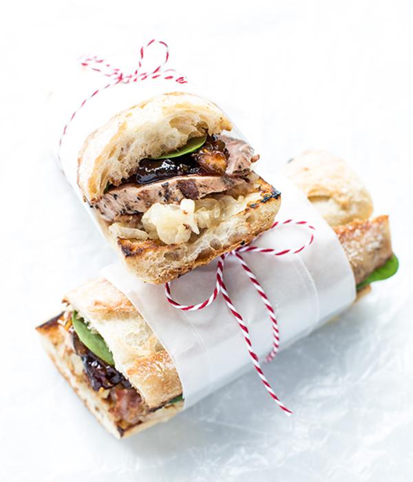 Pork Tenderloin Sandwich with Sauerkraut