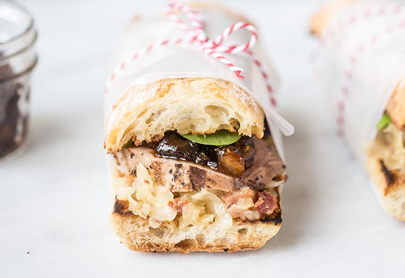Pork and sauerkraut sandwich