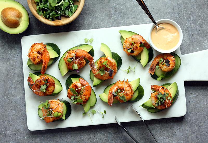 Shrimp and Cucumber Bites