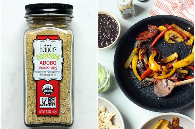 Adobo Black Bean Fajita Bowl Ingredients