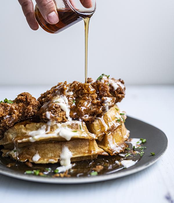 Bone Broth Chicken and Waffles