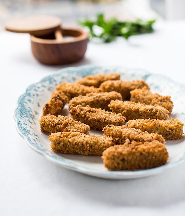 Breaded tempeh