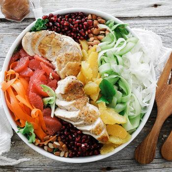 Cirtus salad with chicken
