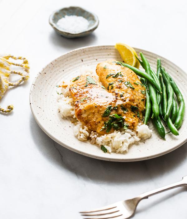 Garlic Lemon Butter Tilapia on Plate