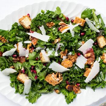 Tempeh kale salad