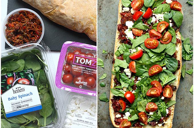 Mediterranean Flatbread Ingredients
