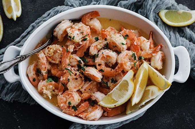Shrimp in Casserole Dish
