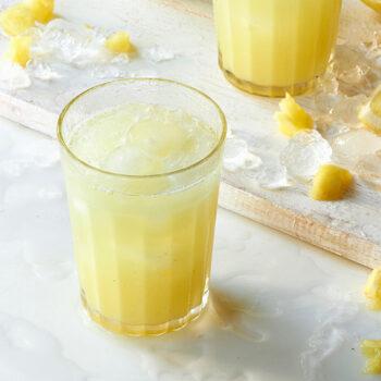 Pineapple lemonade in glass