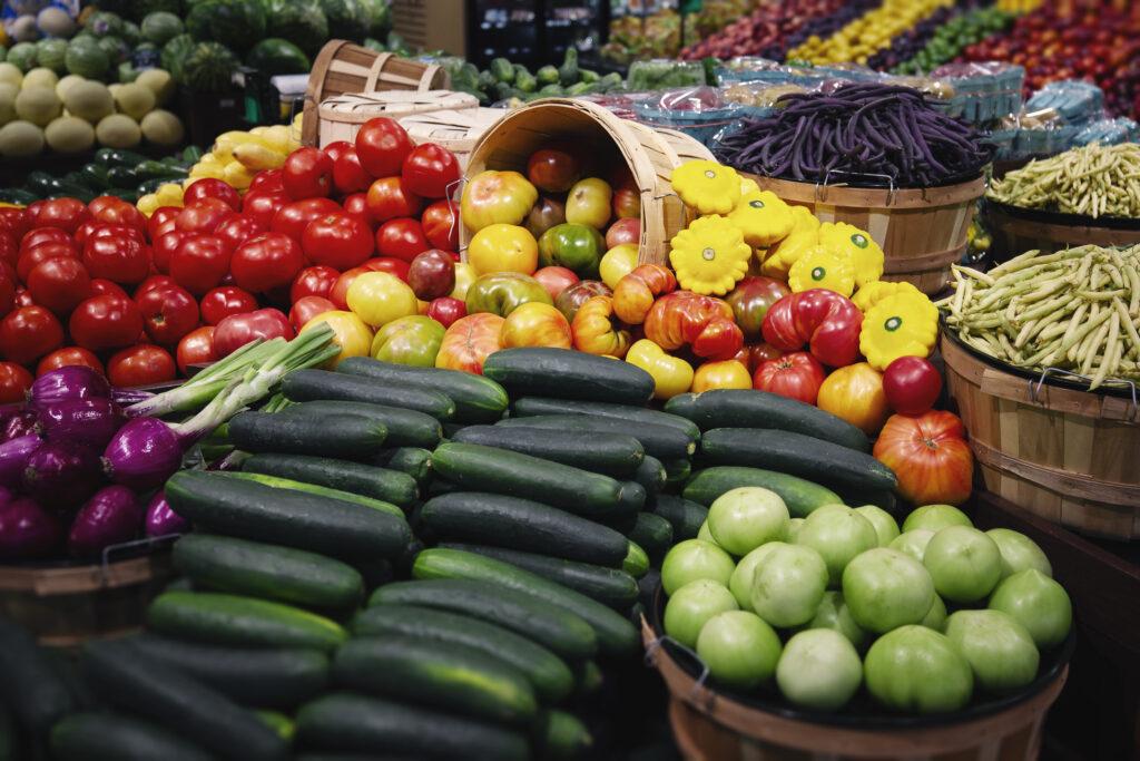 Local produce in Heinen's produce departmenr