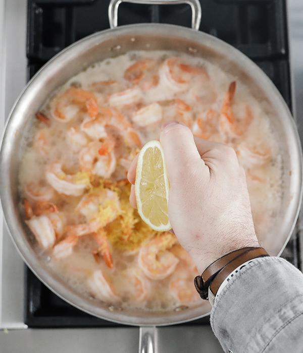 Shrimp with lemon juice