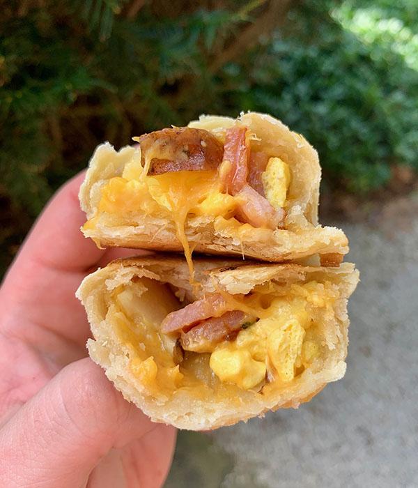 Leftover Ham Empanadas Split