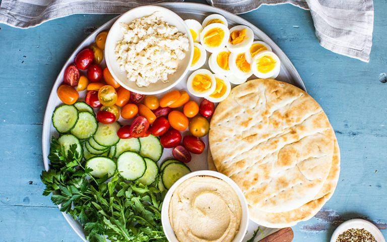 Mediterranean breakfast pita