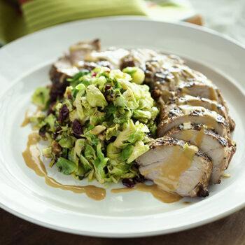 Grilled seasoned pork tenderloin
