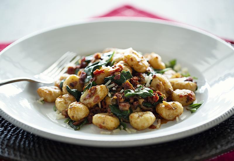 Pesto potato gnocchi