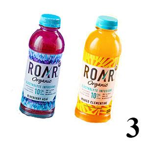 Roar Electrolyte infusion drinks in bottles