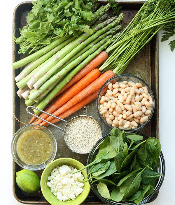 Roasted Spring Vegetable Burritos Ingredients