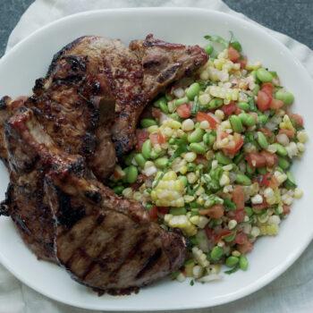 Teriyaki pork with vegetables