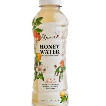 Blume honey water in bottle, Citrus Vanilla flavor