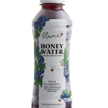 Blume honey water in bottle, Blueberry flavor