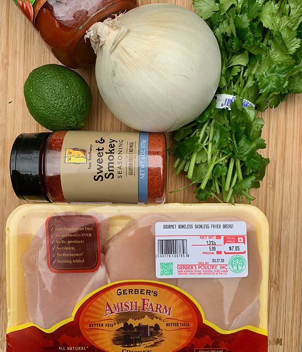 Chicken Street Taco Ingredients