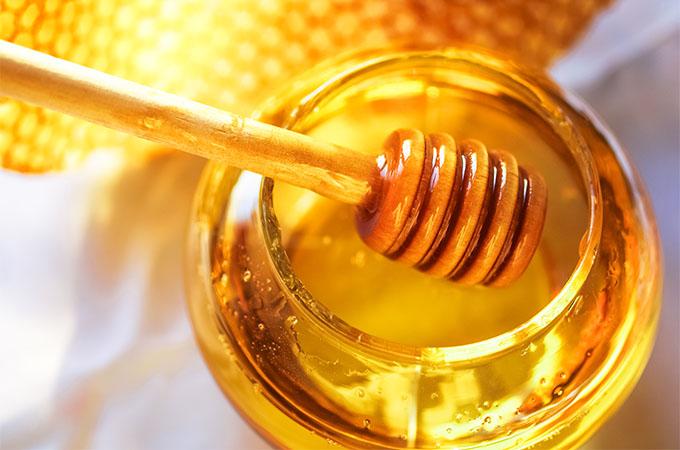 Honey in Glass Jar