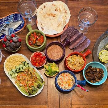 Vegan taco spread