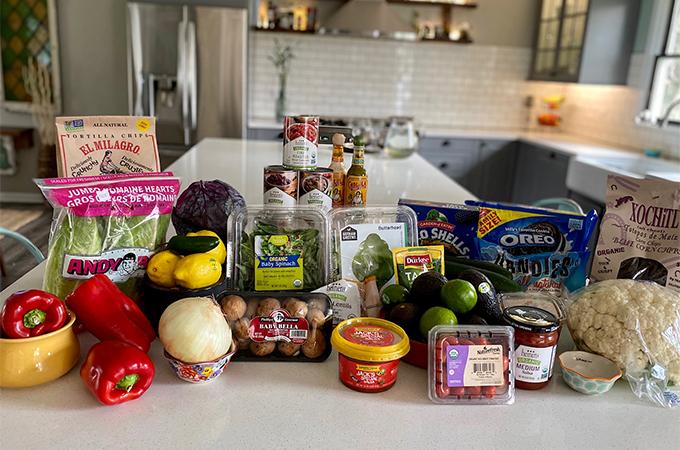 Vegan Tacos Ingredients on Counter