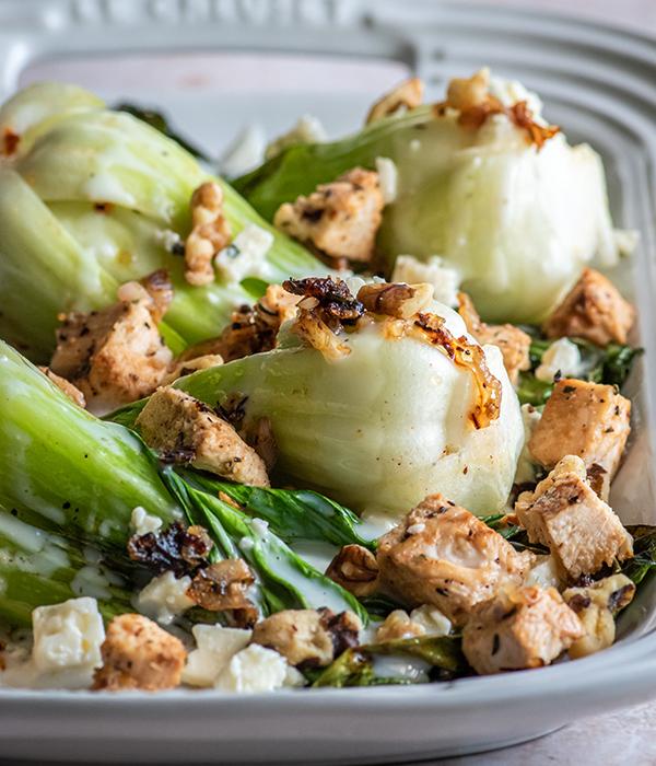 Baby Bleu Grilled Bok Choy Salad