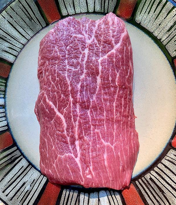 Cilantro Orange Flat Iron Toast Raw Steak