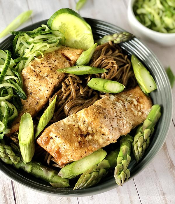 Salmon Soba Noodle Salad