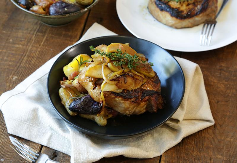 Apple Cider Brined Pork Chops
