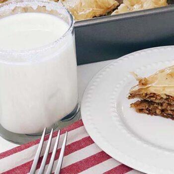Baklava and milk