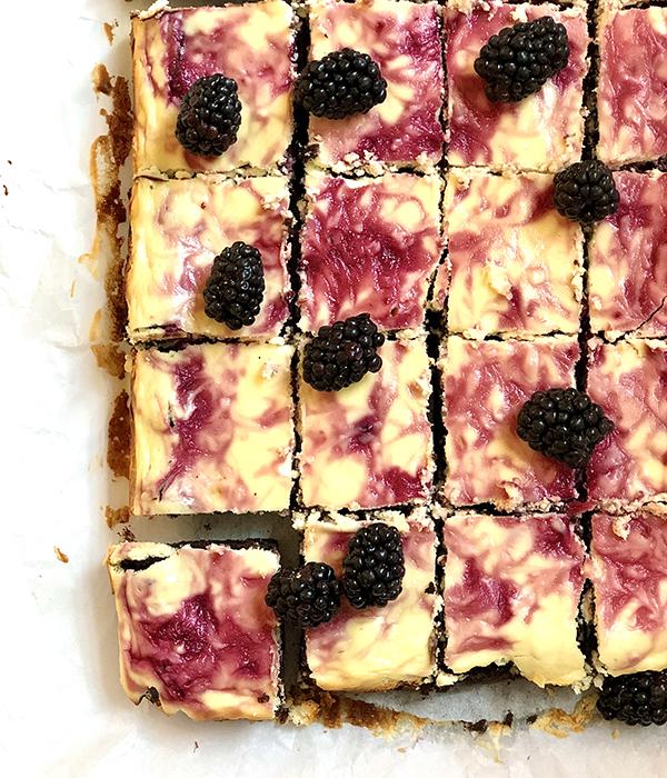 Blackberry Cheesecake Brownies