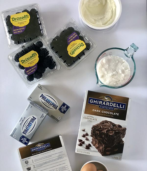 Blackberry Cheesecake Brownies Ingredients
