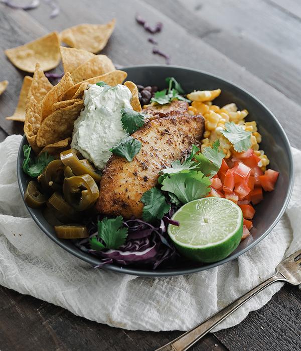 Blackened Fish Taco Bowl