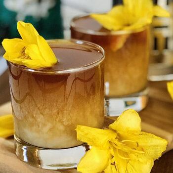 Breakfast Blend Iced Honey Latte