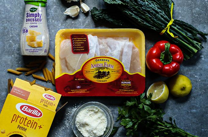 Chicken Caesar Pasta Ingredients