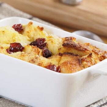 Artisan BreadPudding with Spiced Crème Fraiche