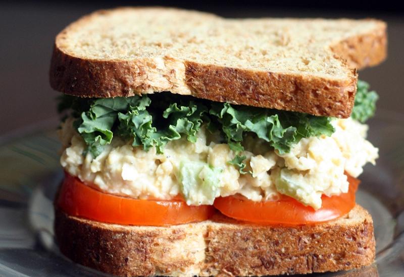 Creamy Chickpea Salad Sandwich