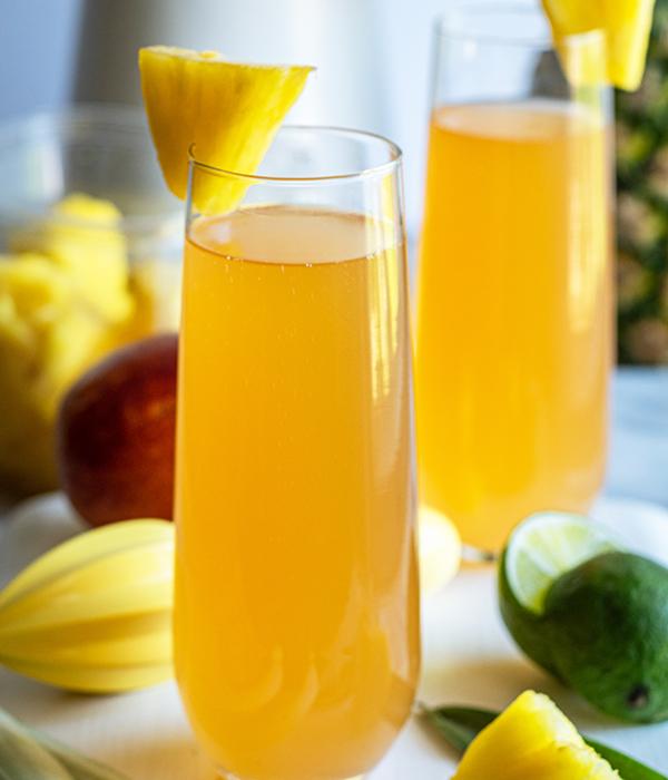 Gogi Pineapple Mimosas
