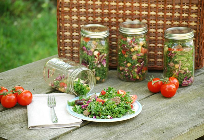 Greek Style American Lamb and Kale Salad