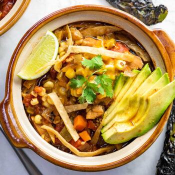 Hatch Chile Tortilla Soup