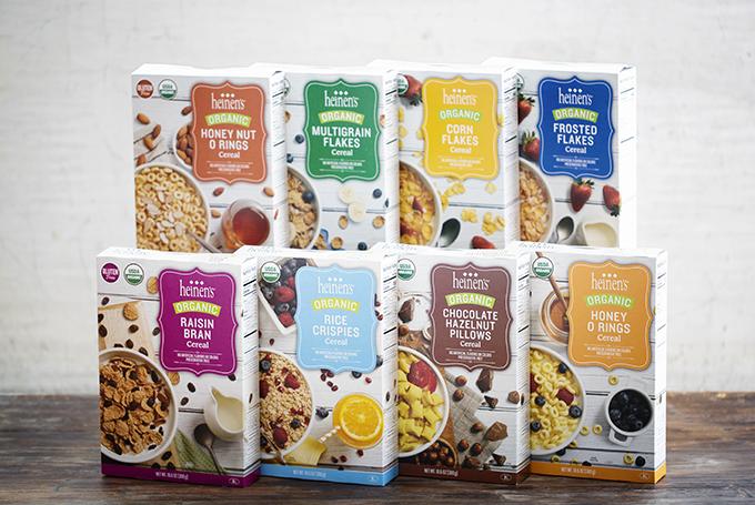 Heinen's Organic Gluten Free Cereal Boxes