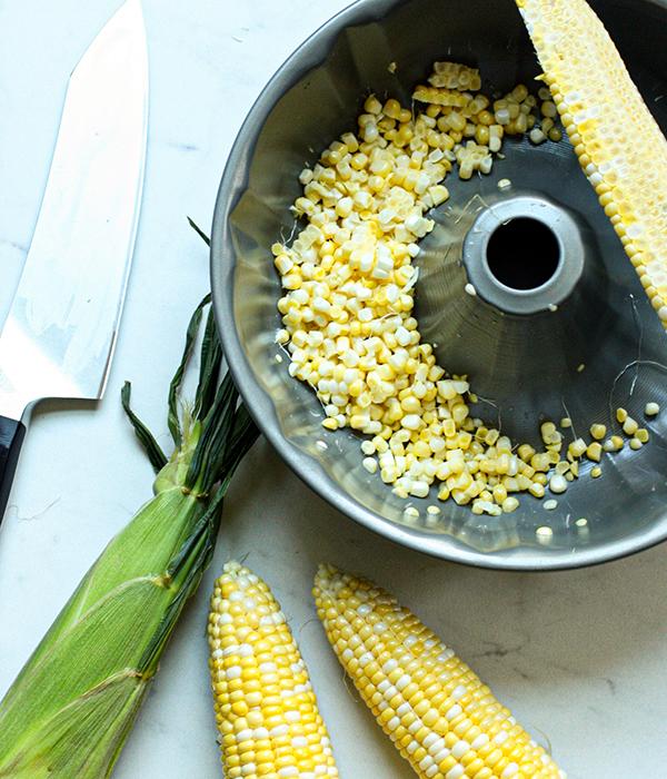 Sweet Corn Fritter Pie