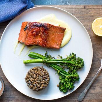 Pan Seared Alaskan Salmon with Meyer Lemon Sauce