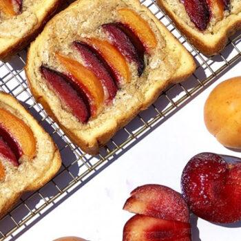 Plumcot & Brioche Toast